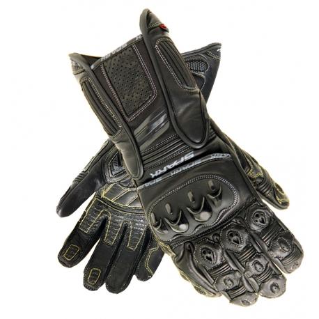 Pánske kožené moto rukavice Spark Dallas, čierne