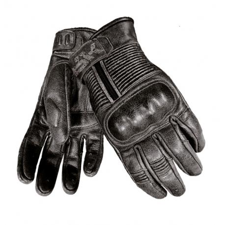 Pánske kožené moto rukavice Spark Crisp, čierne