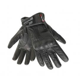 Pánske kožené moto rukavice Spark Trope, čierne