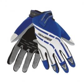 Pánske textilné moto rukavice Spark Cross, modré