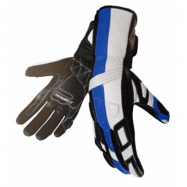 Pánske kožené moto rukavice Spark Tampa, modré