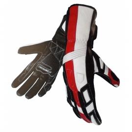 Pánske kožené moto rukavice Spark Tampa, červené