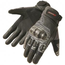 Pánske kožené moto rukavice Spark Terra Cross, čierne