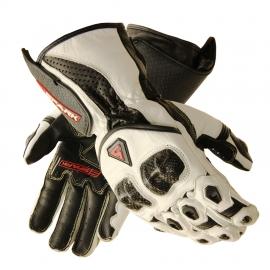 Pánske kožené moto rukavice Spark Elite, biele