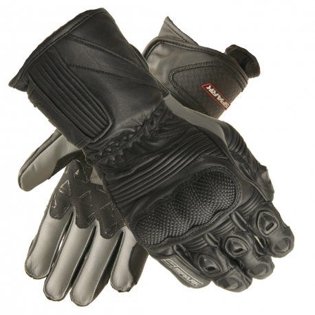 Pánske kožené moto rukavice Spark Modena, čierne