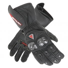 Pánske kožené moto rukavice Spark Elite, čierne