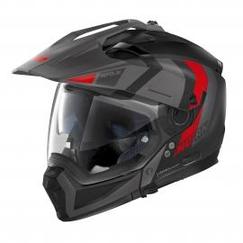 Moto helma Nolan N70-2 X Decurio N-Com Flat Black 29