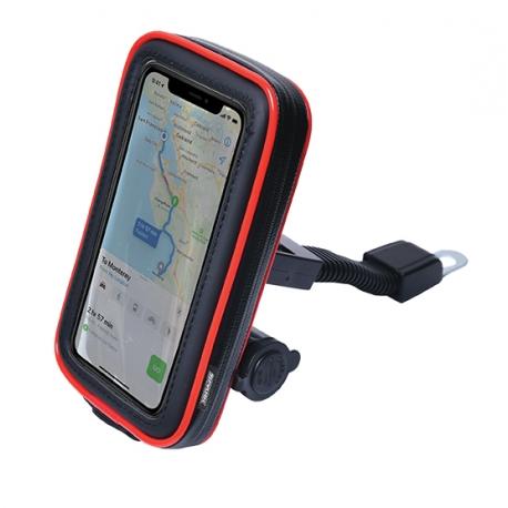 "Pouzdro Spark MTH-55R na mobil ""5  s držákem a USB nabíječkou"
