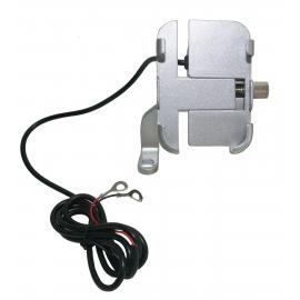 Hliníkový držák na telefon s USB nabíječkou Spark MTH-E63