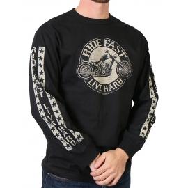 Pánské triko Circle Bike, dlouhý rukáv černé