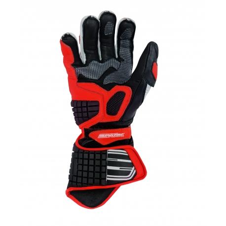 Pánske kožené moto rukavice Spark Apex, červené