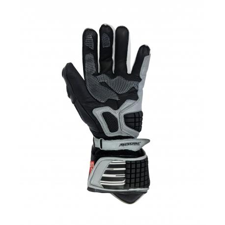 Pánske kožené moto rukavice Spark Apex, šedé