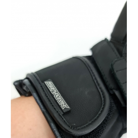 Pánske textilné moto rukavice Spark Loft, čierne