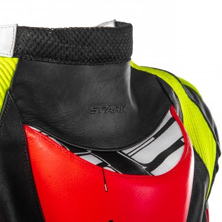 Pánska kožená moto kombinéza dvojdielna Spark Apex, červená