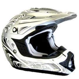 Moto helma Cyber UX-24 stříbrná